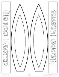 Printable Bunny Ears Template Easter Hat Coloring Pages Kids Free