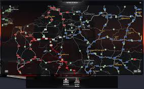SCS Software's Blog: The Map Is Never Big Enough Delivery Goods Flat Icons For Ecommerce With Truck Map And Routes Staa Stops Near Me Trucker Path Infinum Parking Europe 3d Illustration Of Truck Tracking With Sallite Over Map Route City Mansfield Texas Pennsylvania 851 Wikipedia Road 41 Festival 2628 July 2019 Hill Farm Routes 2040 By Us Dot Usa Freight Cartography How Much Do Drivers Make Salary State Map Food Trucks Stock Vector Illustration Dessert