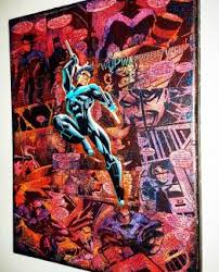 Superhero Comic Wall Decor by Nightwing Premium Dc Graphic Canvas By Starkematter Superhero