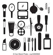 Clip Art Black And White Makeup Clipart