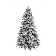 75 Slim Flocked Christmas Tree by Flocked Christmas Trees You U0027ll Love Wayfair
