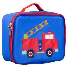 100 Fire Truck Lunch Box Olive Kids Embroidered Blanket Warehouse