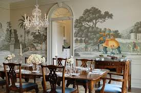 Classic Dining Room Decorating With Unique Wall Decoration