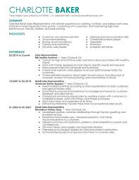 Retail Sales Resume Examples