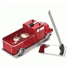 cadeau bureau homme presse papier camion de pompiers aimanté décoration de bureau