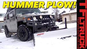 100 Truck With Snow Plow Does A Hummer H2 Make For A Good We Put It To Work