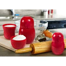 100 Matryoshka Kitchen MCups Red Measuring Cups