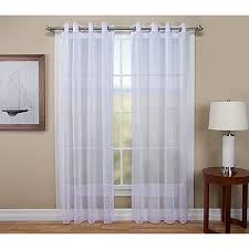 tergaline grommet tailored semi sheer curtain panel with weighted