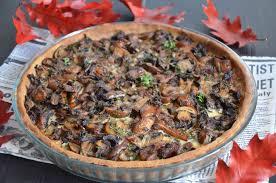 cuisine chataigne tarte aux chignons à la farine de châtaigne