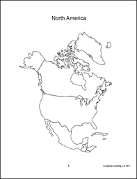 North America Map Blank Outline Coloring Book
