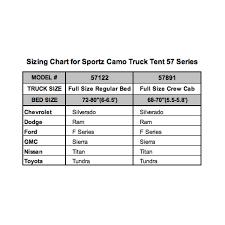 100 Truck Size Chart Amazoncom Napier Outdoors Sportz Camo Tent Regular Bed