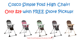 Cosco Flat Fold High Chair by Cosco Simple Fold High Chair Only 29 Free Store Pickup