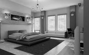 Modern Minimalist White And Black Master Bedroom Decor Design Interior Decoration Office