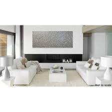 großes acrylbild auf leinwand in weiß und silber