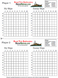 Printable Battleship Board Game