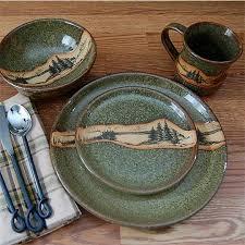 Rustic Mountain Scene Dinnerware