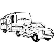 Truck And RV Camper Trailer