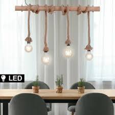 details zu led retro decken le holz balken wohnzimmer seil filament pendel hänge leuchte