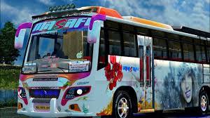ASHOK LEYLAND Bus Mod|Euro Truck Simulator 2...Area Private Bus ...