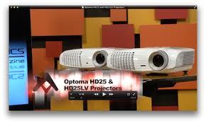 optoma hd25 and hd25 lv projectors review audioholics