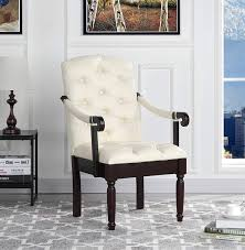 Victorian Tufted Faux Leather Accent Chair - Armchair For Home, Kitchen And  Living Room, Traditional Accent Chairs With Arms & Wooden Legs (Ivory)… Details About Classic And Traditional Linen Fabric Accent Chair Living Room Armchair Rooms Small White Carpet Natural Espresso Ottoman Fremont Rolled Back By Flexsteel At Crowley Fniture Mattress Quatrefoil Patterned 30 In Coral Mathis 9 Modern Parisian Chairs Emerald Hutton Ii Armless Sadlers Home Floral Best Site Badcock Hd 369 Homey Design Wood Finish Upholstered Clearance Large Yellow Velvet Tuscan With High Ceiling And Chandelier Sandra Of America For Less