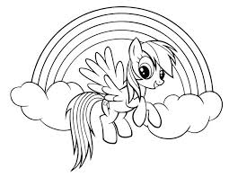 Coloring Pages Of Rainbow Dash Printable My Little Pony