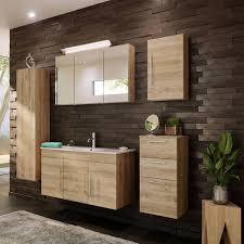 badezimmer möbel set mit 100cm waschtisch tabris 02 in eiche hell