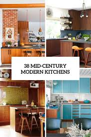 38 Mid Century Modern Kitchen Designs Cover