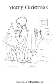 Detailed Free Printable Coloring Christmas Cards