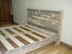 reclaimed wood platform bed base pallet natural twin by kasecustom
