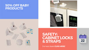 Childproof Cabinet Locks No Screws by Safety Cabinet Locks U0026 Straps 50 Off Baby Products Youtube