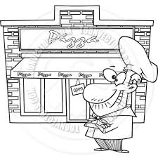 Pizzeria Or Pizza Shop Illustration Vector Stock