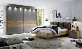 sonderangebot schlafzimmer 5 teilig mit led beleuchtung modell deltas wildeiche basaltgrau