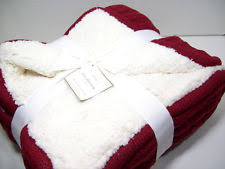 Cable Knit Throw Pottery Barn by Pottery Barn Sheepskin Cozy Cable Knit Throw Blanket Cardinal Red