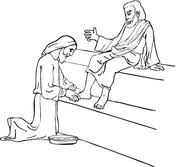 Jesus Washing The Disciples Feet Coloring Page