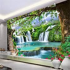 fototapete 3d wandbild tapete wandbild natur grün baum wald