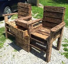 Patio Furniture Made Out Of Wooden Pallets Diy Rustic A Upcycled Pallet Double Chair Bench Make Outdoor Seating