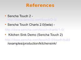 Sencha Kitchen Sink Example by Sencha Touch Charts