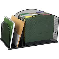 Walmart Desk File Organizer staples mesh metal hanging file desktop organizer 3 compartments