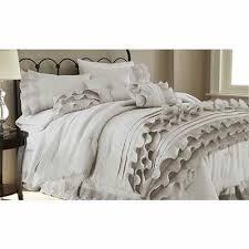 Lush Decor Serena Bedskirt by Textured Comforter Set Bellacor