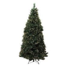 Pre Lit Pencil Christmas Tree 7 Ft by Shop Northlight Equinox 7 5 Ft 1128 Count Pre Lit Taittinger Pine