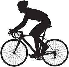 Cyclist Silhouette PNG Clip Art Image