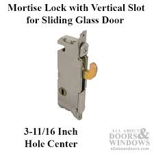 Mortise Lock Vertical Slot Metal Sliding Patio Doors W & F Style