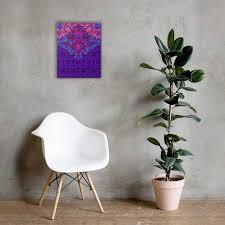 lila barock wand leinwand wandmalerei wohnzimmer dekor fade resistant leinwand poly cotton blend canvas matte finish beschichtung