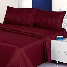 Amazoncom Millenium Linen Queen Size Bed Sheet Set Burgundy