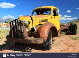 Abandoned 1947 International Truck In Utah Stock Photo: 147843124 ...