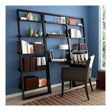 bookcase espresso leaning bookshelf espresso leaning shelf crate