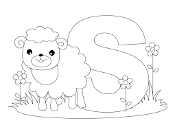 Letter S Preschool Coloring Page Free Printable Alphabet Pages For Best