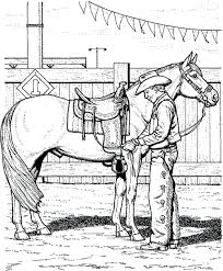 Free Printable Realistic Horse Coloring Pages Race Jumping Full Size