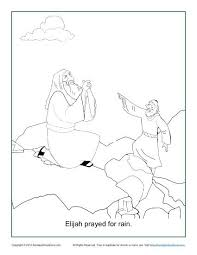 Elijah Prayed For Rain Coloring Page